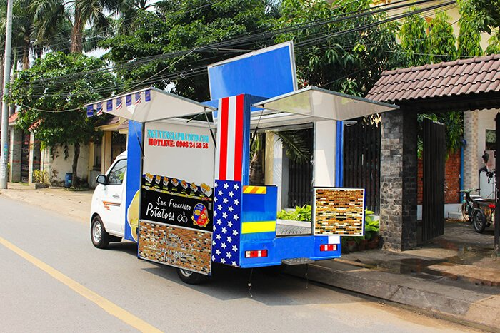 xe tải bán thức ăn nhanh food truck