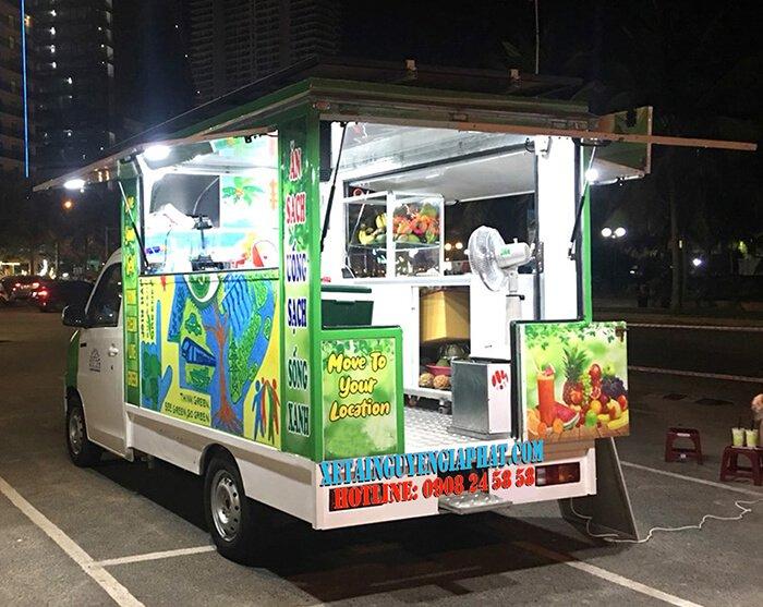 Xe tải bán nước trái cây juice truck