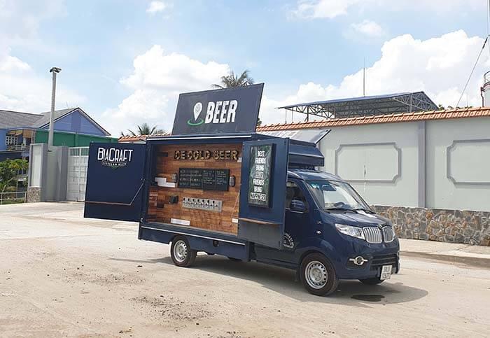 xe bán bia lưu động