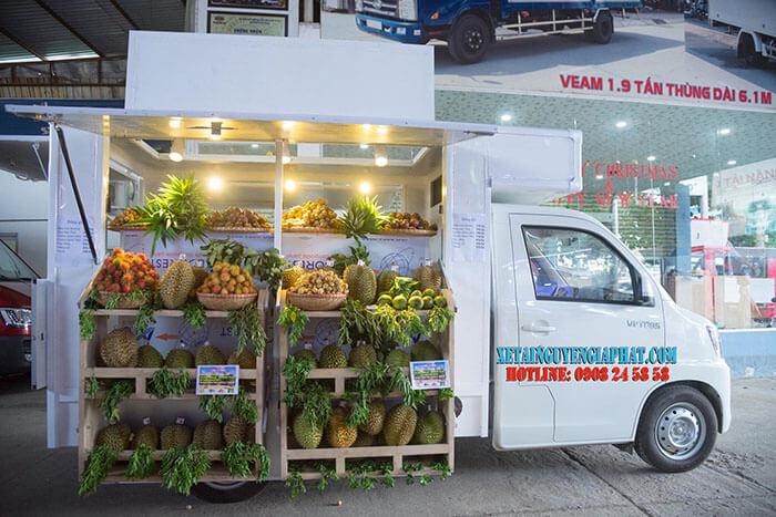 Xe tải đóng thùng bán trái cây lưu động