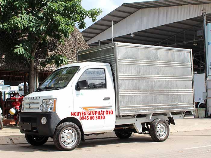 Xe tải dongben 870kg thùng kín