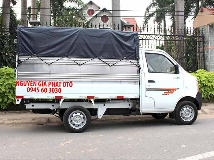 Xe tải dongben 870kg thùng mui bạt