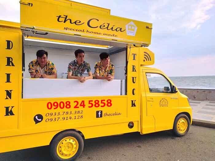 Xe bán trà sữa lưu động tại Vũng Tàu